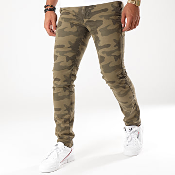 Pantalon Chino Camouflage Perf Vert Kaki