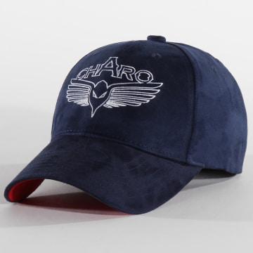 Charo - Casquette Suede Bleu Marine