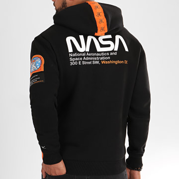 Final Club - Sweat Capuche Space Exploration Avec Patchs Et Broderie 287 Noir