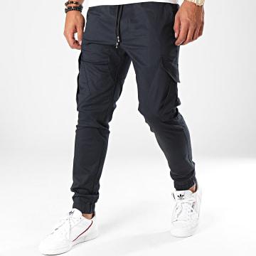 Pantalon Cargo 23676 Bleu Marine