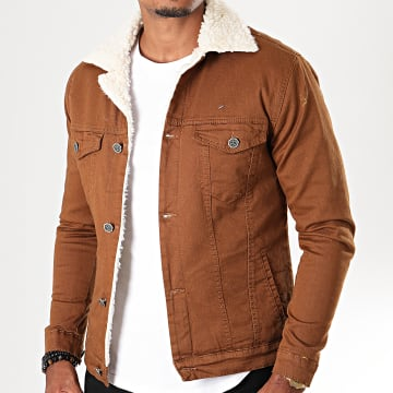 Black Needle - Veste Col Mouton 5003 Marron Ecru