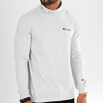 Champion - Tee Shirt Manches Longues A Col Roulé 213610 Gris Chiné
