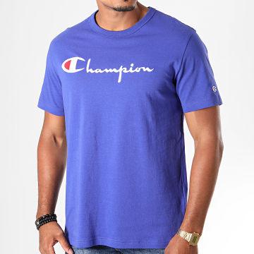 Champion - Tee Shirt Big Script 210972 Bleu Roi