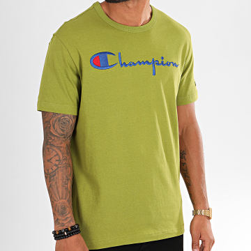 Champion - Tee Shirt Big Script 210972 Vert Clair