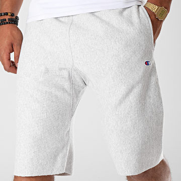 Champion - Short Jogging 212584 Gris Clair Chiné