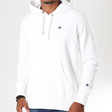 Champion - Sweat Capuche Big Script 213606 Blanc