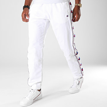 Pantalon Jogging A Bandes 214047 Blanc