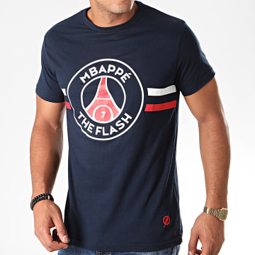 Tee Shirt Flash Mbappé Bleu Marine