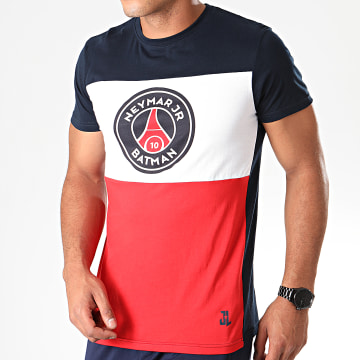 Tee Shirt Captain Batman Neymar Jr Bleu Marine Blanc Rouge