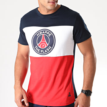 Tee Shirt Captain Flash Mbappé Bleu Marine Blanc Rouge
