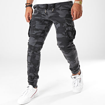 Jogger Pant Camouflage H6404 Gris Noir