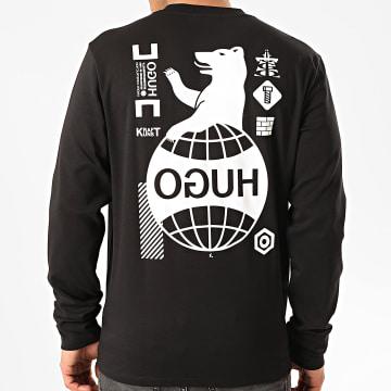 HUGO by Hugo Boss - Tee Shirt Manches Longues Dyderabad 50414452 Noir