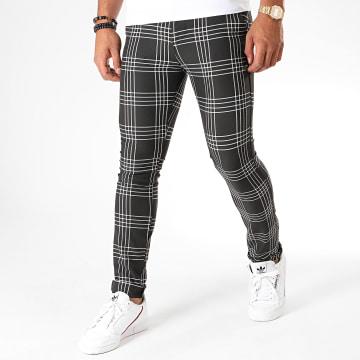 MTX - Pantalon Carreaux DJ506 Noir Blanc
