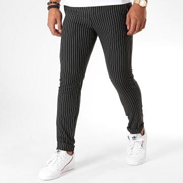 MTX - Pantalon A Rayures DJ513 Noir