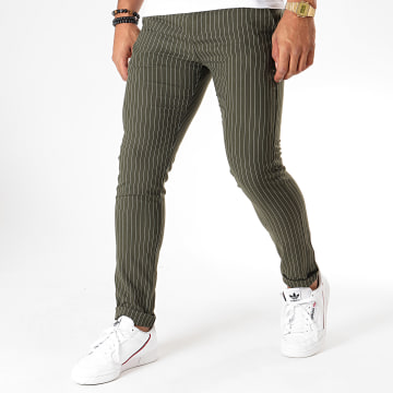 MTX - Pantalon A Rayures DJ512 Vert Kaki