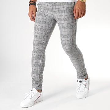 MTX - Pantalon A Carreaux DJ534 Gris