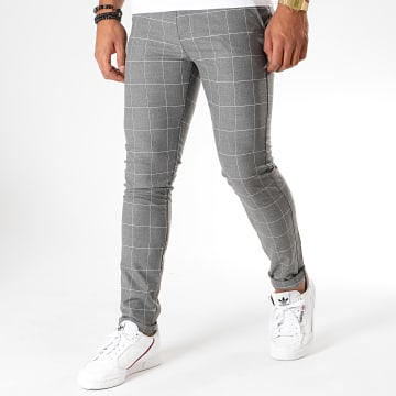 MTX - Pantalon A Carreaux DJ538 Gris Chiné