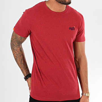 Superdry - Tee Shirt Ol Vintage Embroidery M1000020A Rouge Chiné