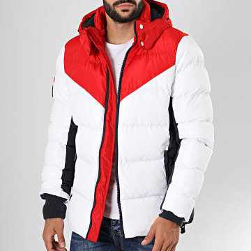 Doudoune A Capuche Icon Racer Sports Puffer M5000055A Blanc Rouge