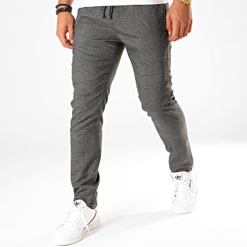 Pantalon A Carreaux MMTR00510 Gris Anthracite