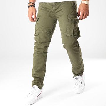 Deeluxe - Pantalon Cargo Tropersson Vert Kaki