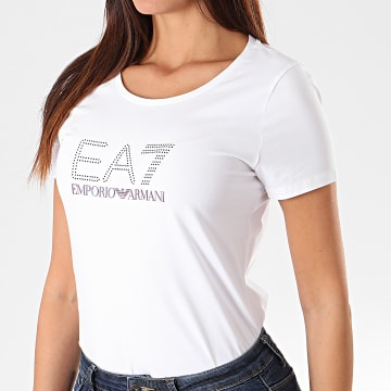 Tee Shirt Slim Femme 6GTT60-TJ29Z Blanc