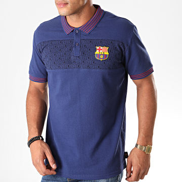 Polo Manches Courtes Fan FC Barcelona B19011 Bleu Marine