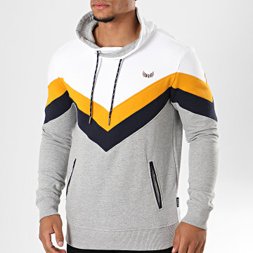 Sweat Col Amplified Opif Blanc Gris Chiné