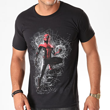 Tee Shirt Spider-Man Far From Home Cracked Web Noir