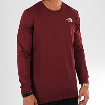 Tee Shirt Manches Longues Simple Dome 3L3B Bordeaux