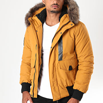 Blouson Fourrure Everest M5000039A Jaune Moutarde