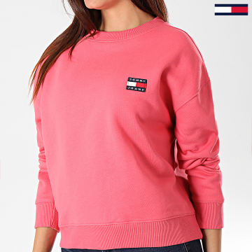 Tommy Jeans - Sweat Crewneck Femme Tommy Badge 6814 Rose
