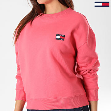 Sweat Crewneck Femme Tommy Badge 6814 Rose