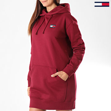 Robe Sweat Capuche Femme Tommy Badge 7234 Bordeaux
