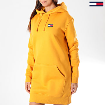 Robe Sweat Capuche Femme Tommy Badge 7234 Jaune
