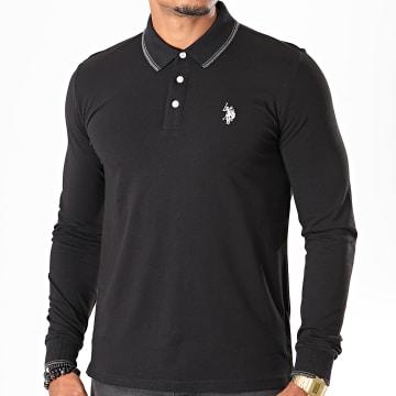 US Polo ASSN - Tee Shirt Manches Longues Double Horse Noir