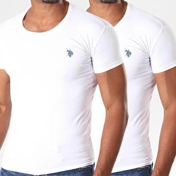 US Polo ASSN - Lot De 2 Tee Shirts Basic USPA Blanc