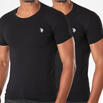 Lot De 2 Tee Shirts Basic USPA Noir