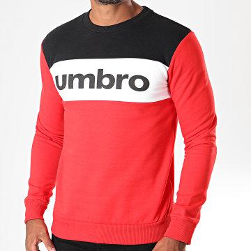 Umbro - Sweat Crewneck 729950 Rouge Noir Blanc