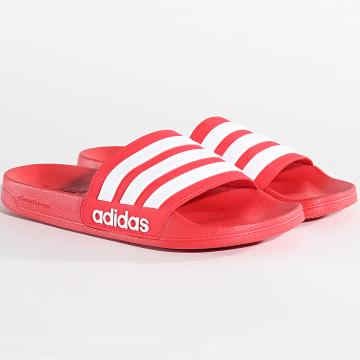 Adidas Performance - Claquettes Adilette Shower AQ1705 Scarlet Footwear White Scarlet