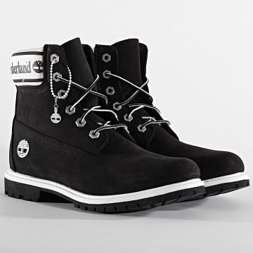 Boots Femme 6 Inch Premium Waterproof A2314 Black Nubuck