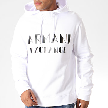 Armani Exchange - Sweat Capuche 6GZMBP-ZJ1PZ Blanc