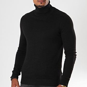 Jack And Jones - Pull Col Roulé Emil Noir