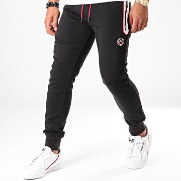 Pantalon Jogging Kain Noir Blanc Rouge