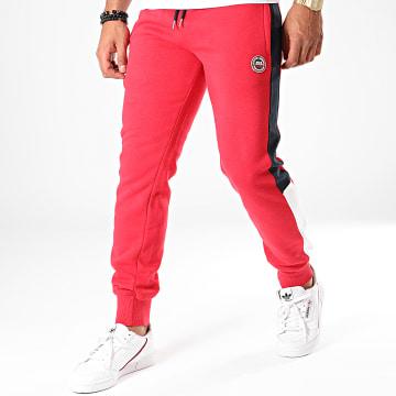 Pantalon Jogging A Bandes Kaltor Rouge Blanc Noir