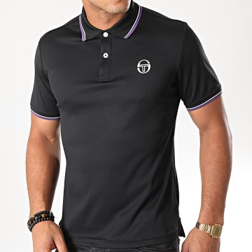Polo Manches Courtes Reed 017 37382 Noir Violet Blanc