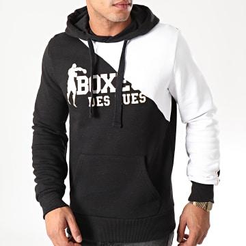 Boxeur Des Rues - Sweat Capuche 40013L Noir Blanc Doré