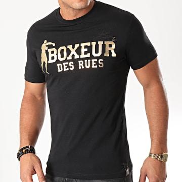 Boxeur Des Rues - Tee Shirt Slim 02ESY Noir Doré