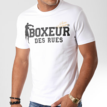 Boxeur Des Rues - Tee Shirt Slim 02ESY Blanc