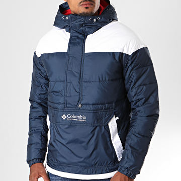 Columbia - Veste Outdoor Lodge Bleu Marine Blanc